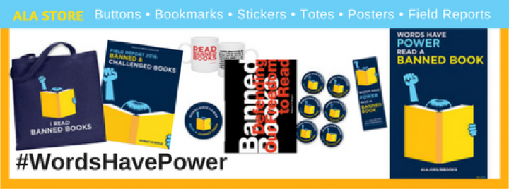 Banned Books Week Merchandise Words Have Power ALA Store Official