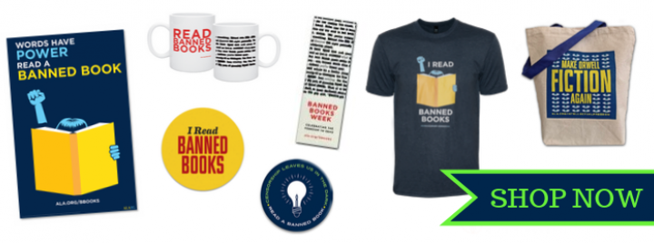 Shop Banned Books Week - posters, t-shirt, tote, mug, stickers