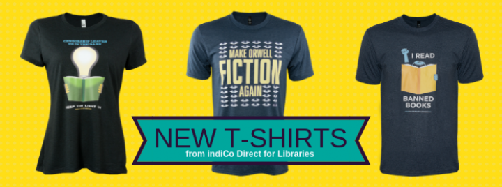 New Banned Book T-shirts from IndiCo Direct for Libraries