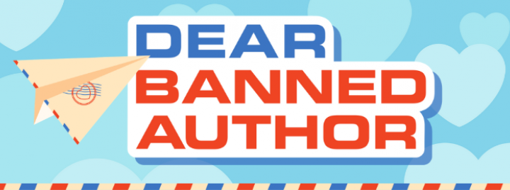 Dear Banned Author with paper airplane