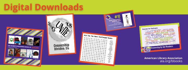 Digital Downloads. The image is a collage of a coloring sheet, crossword puzzle, Wordle, and Facebook post with the Top 10 covers