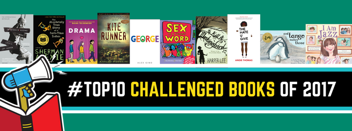 American Library Association Top Ten Challenged Books of 2017