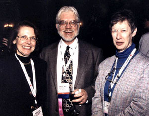 marion reid, (former alcts president); charles wilt (alcts executive director); and pamela bluh (chair, fundraising committee)