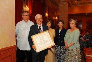 paul banks & carolyn harris award: robert strauss, preservation technologies; gary frost, award recipient; yvonne carignan, award jury; rosann bazirjian, alcts president; joan gatewood, chair, preservation and reformatting section.