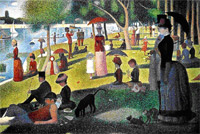 georges seurat, a sunday on la grande jatte - 1884