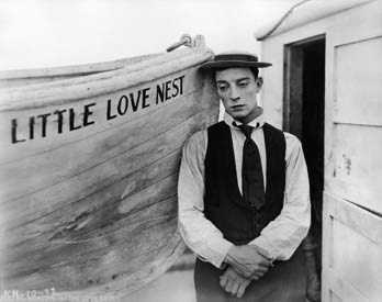 buster keaton in a scene from the love nest (1923).