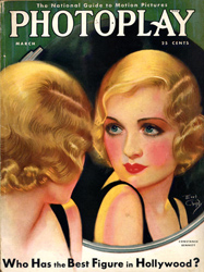 photoplay magazine cover with constance bennett, 1931.