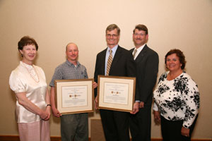 adam chandler and oliver pesch, outstanding collaboration citation recipients