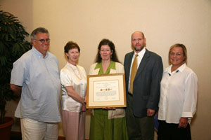 janet gertz, recipient of the banks harris preservation award