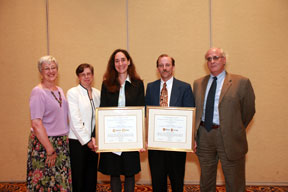 kathy tezla (cmds), mary case (alcts president), galadriel chilton (award recipient), william doering (award recipient), robert nardini (coutts/ingram)