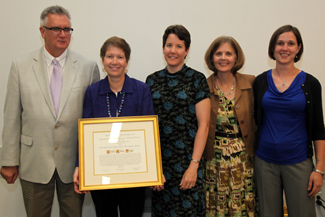 Julie Page receives Banks-Harris Preservation Award