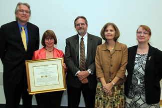 The 2012 Harrassowitz Award for Leadership in Library Acquisitions was given to Lisa German.