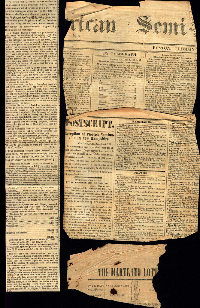 storing old letters and newspaper clippings