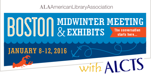 logo for ALA Midwinter Meeting 2015 in Boston