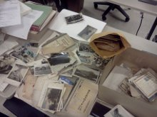family papers and photos