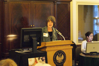 mary chute, deputy director of library services, imls, welcomes stakeholders to the preservation week meeting.
