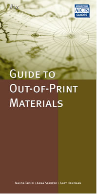 alcts acquisitions guide to out-of-print materials