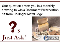 ask a question to enter the drawing for a document preservation kit