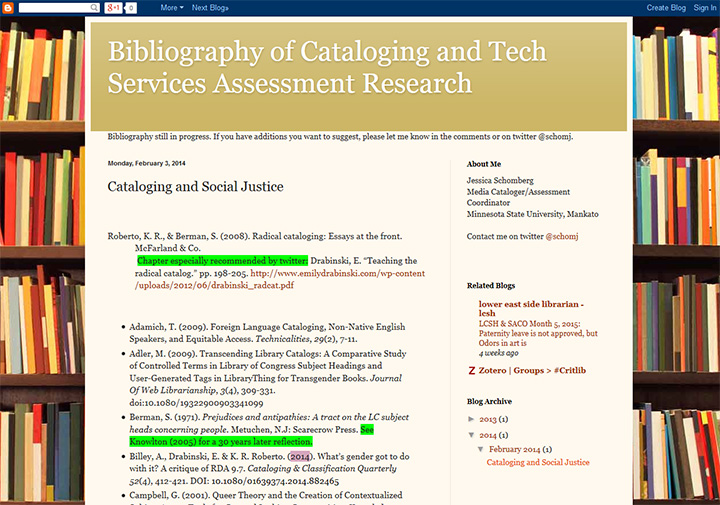 Cataloging and Social Justice