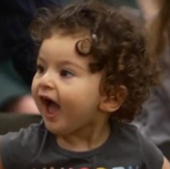 happy child at a library program