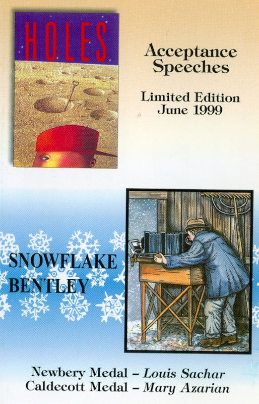 Audio Speech Cover: 1999 Newbery and Caldecott Acceptance Speeches