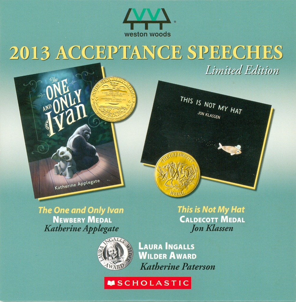 Audio Speech Cover: 2013 Newberry, Caldecott and Wilder Acceptance Speeches