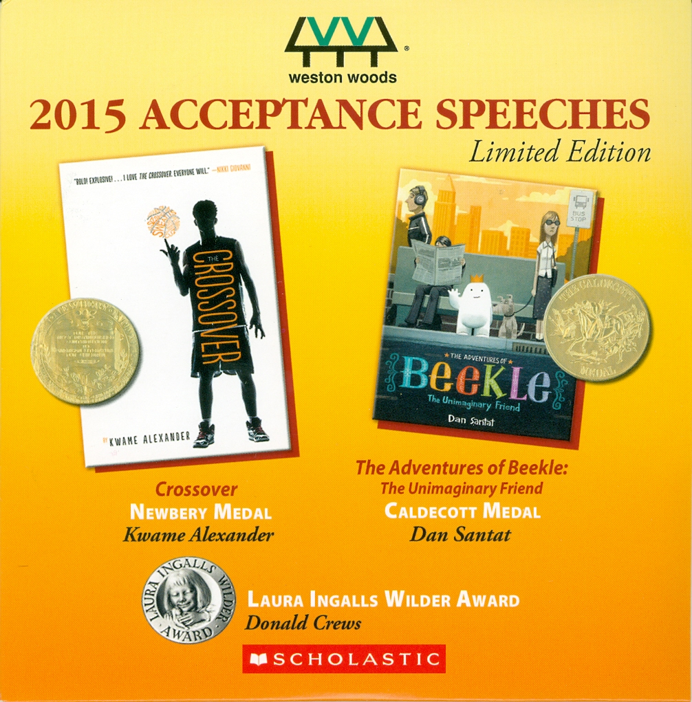Audio Speech Cover: 2015 Newberry, Caldecott and Wilder Acceptance Speeches