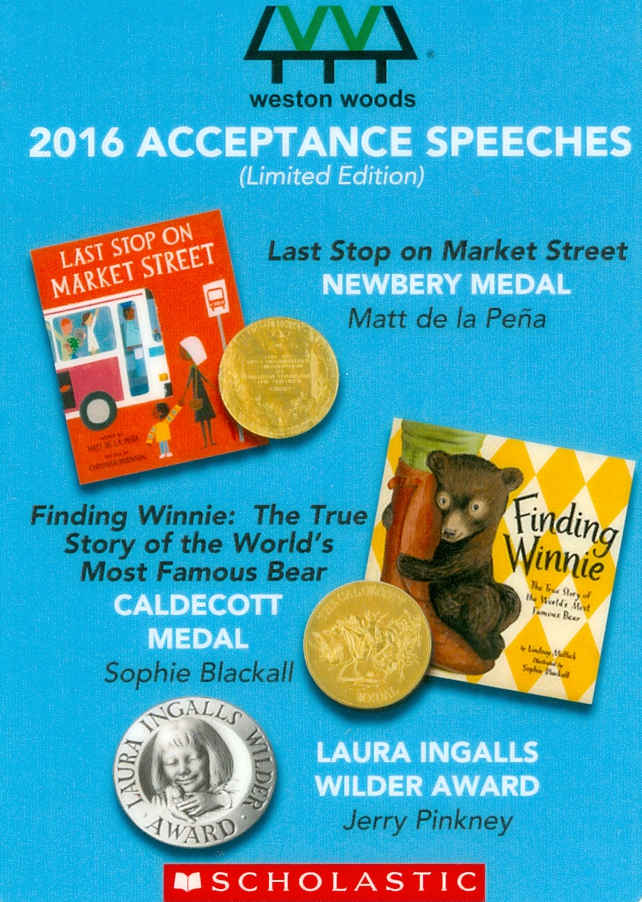 Audio Speech Cover: 2016 Newberry, Caldecott and Wilder Acceptance Speeches