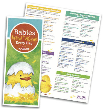 Babies Need Words Book List Brochure