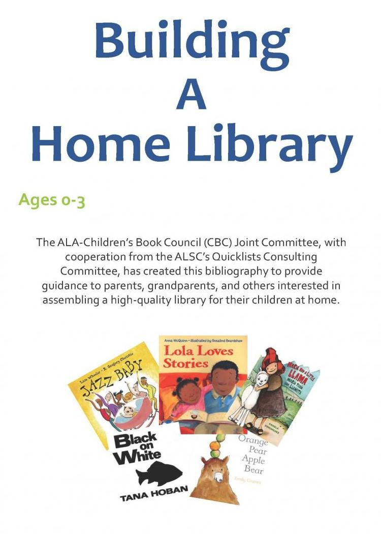 Building a Home Library - birth to age 3