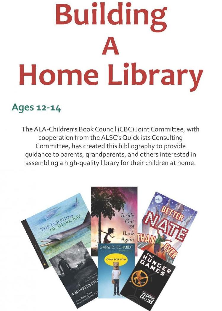 Building a Home Library age 12 to 14