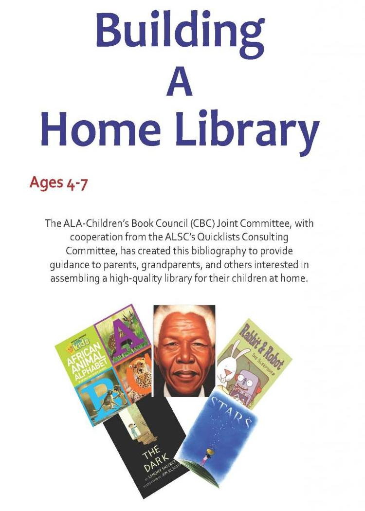 Building a Home Library age 4 to 7