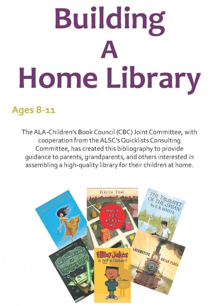 Building a Home Library age 8 to 11