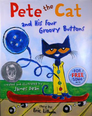 Book cover: Pete the Cat and His Four Groovy Buttons