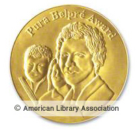 image of the pura belpre award seal