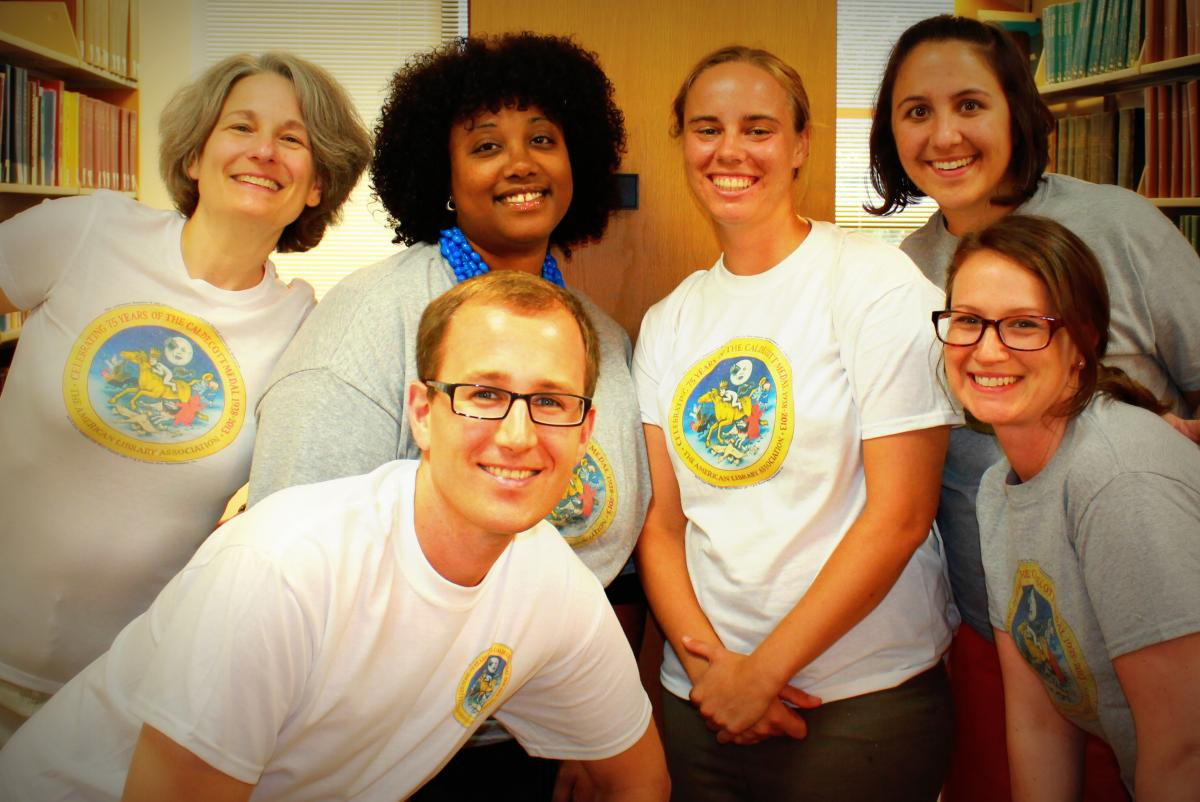 Staff photo featuring t-shirts