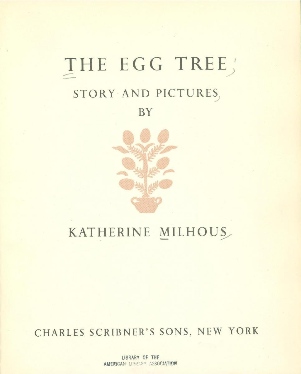The Egg Tree - title page image