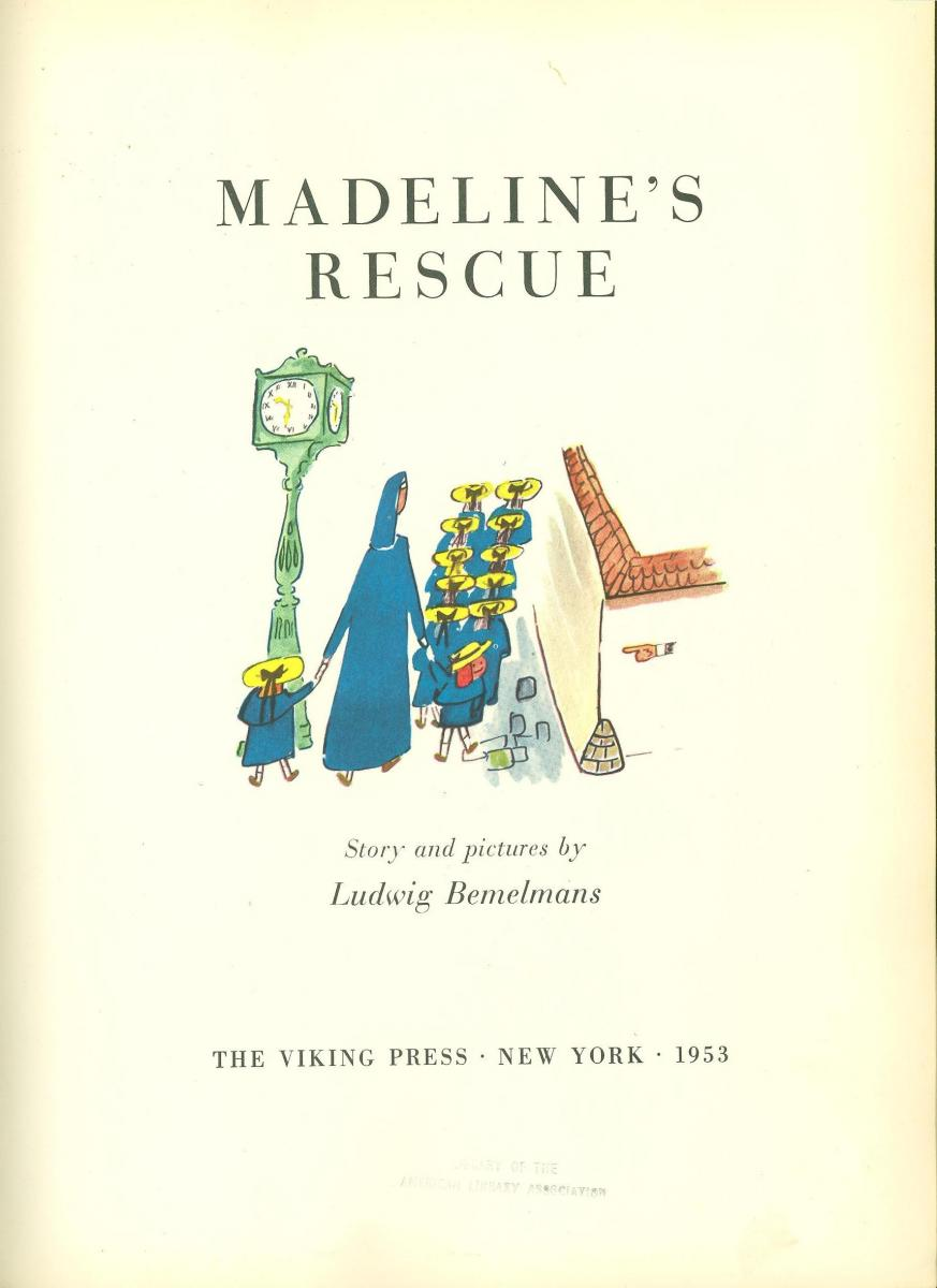 Madeline's Rescue - titlle page image