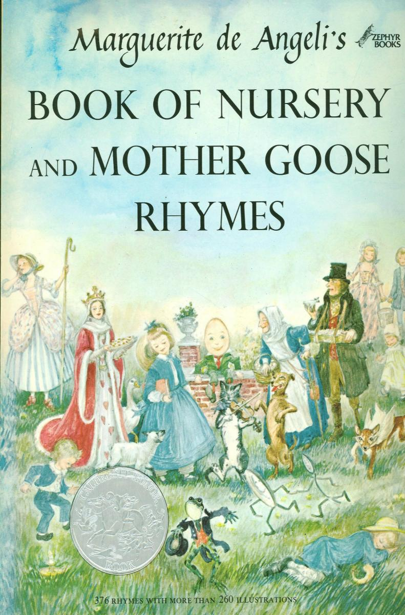 Book of Nursery and Mother Goose Rhymes - book cover image
