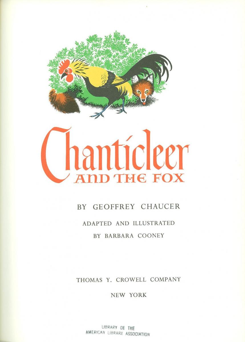 Chanticleer and the Fox - title page image