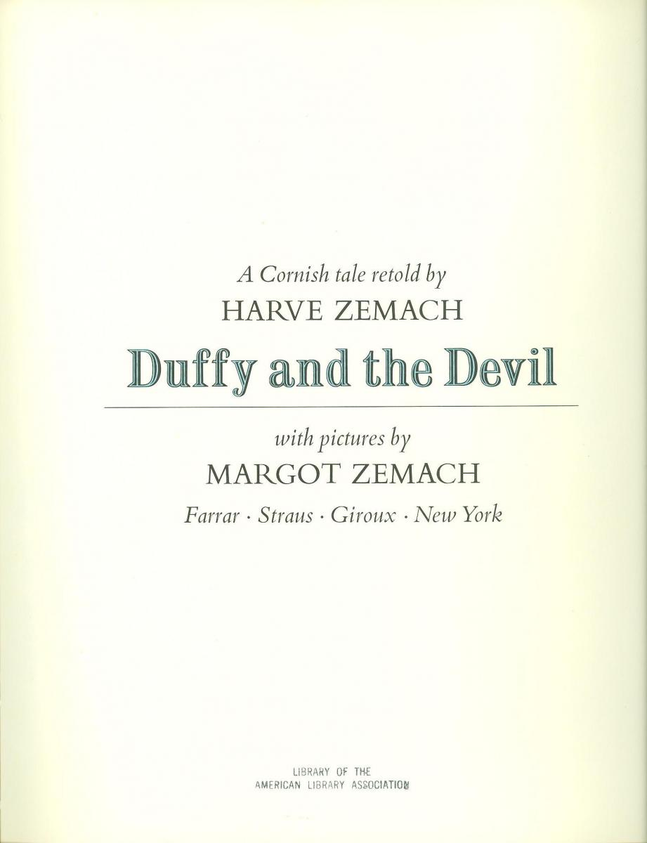 Duffy and the Devil - title page image