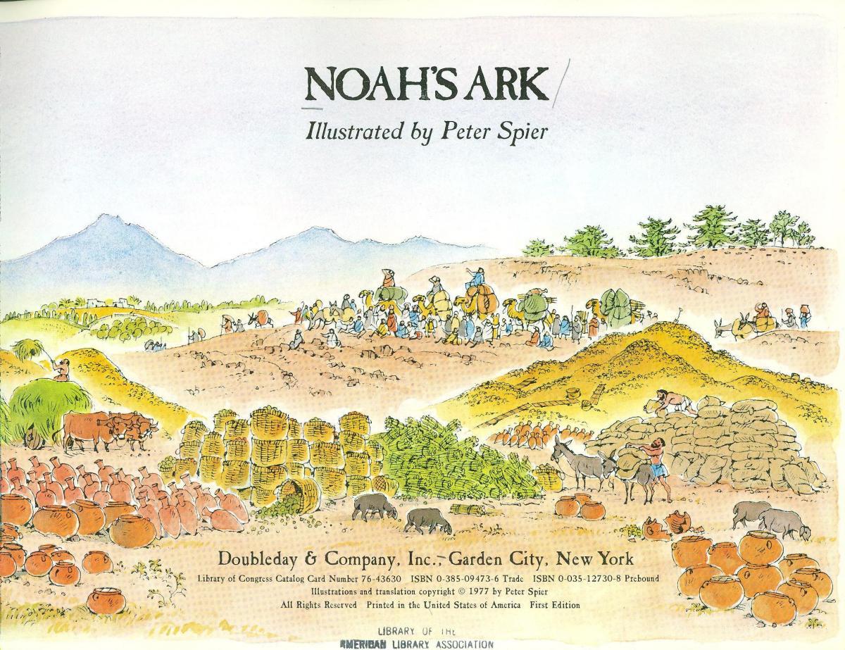 noah u0027s ark 1978 caldecott medal winner association for library