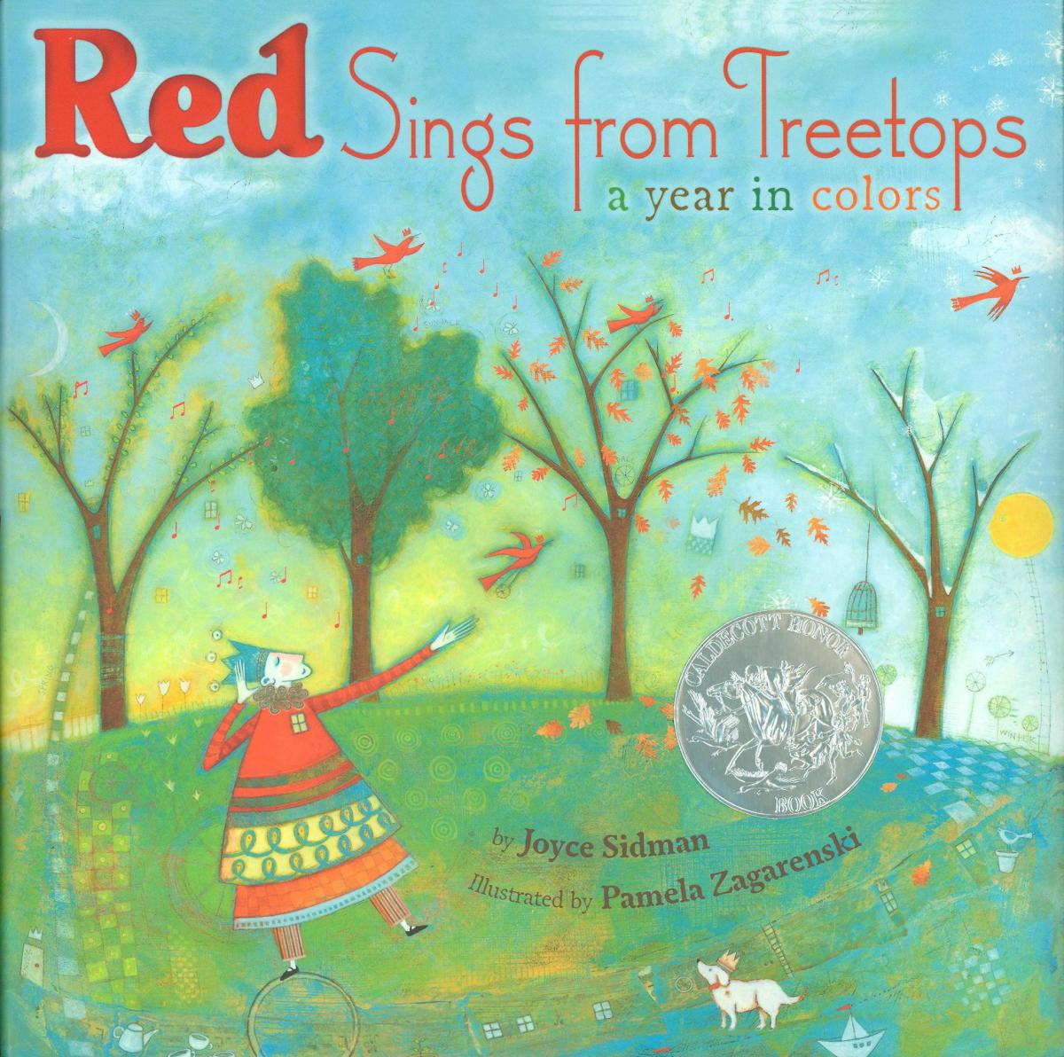 Red Sings from Treetops: A Year in Colors book cover image