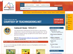 Screen shot from Teaching Books website