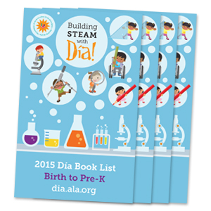 Book cover: Building STEAM with Dia!