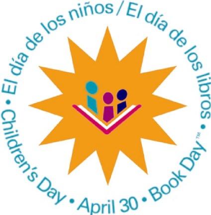 """dia logo color: """"El día de los niños/El día de los libros"""" April 30"""