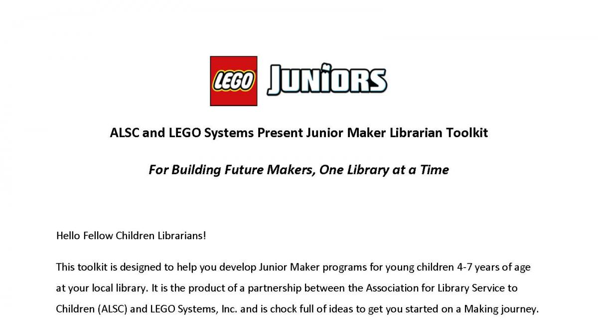 Junior Maker Librarian Tool Kit