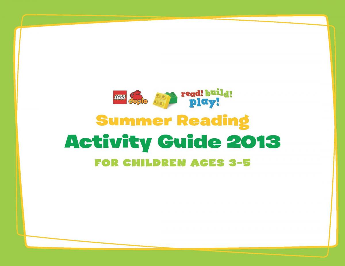 2013 Summer Reading list and activity guide (ages 3-5)