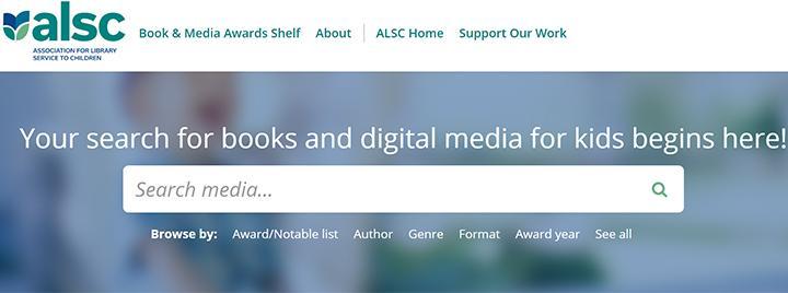 Book & Media Awards Shelf