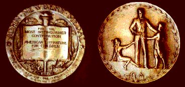 front and back of Newbery Medal
